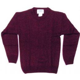 21 Bulk Adult Pull Over Sweater Burgundy Only