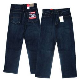 14 Bulk Big Men's 5-Pocket Cross Hatch Ring Spun Denim Jeans