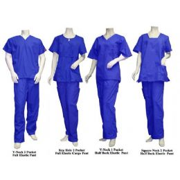 16 Bulk 2 Pc Set Scrub Set Royal Blue Only