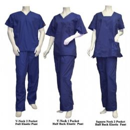 25 Bulk 2 Pc Set Scrub Set Navy Only
