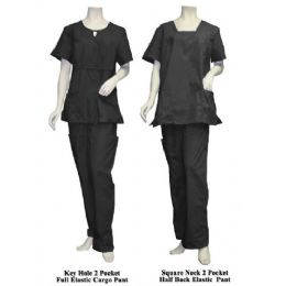 12 Bulk 2 Pc Set Scrub Set Black Only