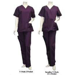 14 Bulk 2 Pc Set Scrub Set W/ Half Back Elastic Cargo Pant