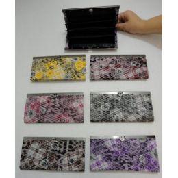 72 Bulk Ladies Expandable Wallet [plaid & Roses]