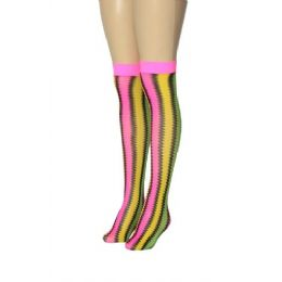 36 Bulk Ladies Knee High Neon Colors