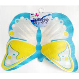 48 Bulk NoN-Slip Butterfly Shape Bath Mat