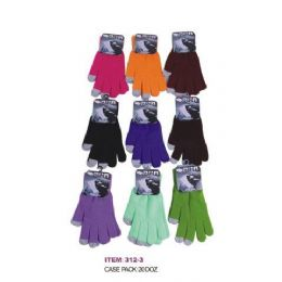 120 Bulk Ladies Assorted Color Touch Screen Gloves