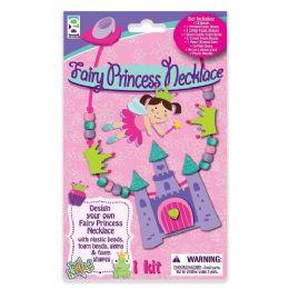 48 Bulk Fairy Princess Necklace Foam Craft Kit