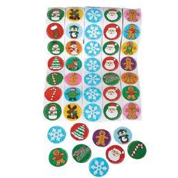 48 Bulk Holiday Sticker Roll