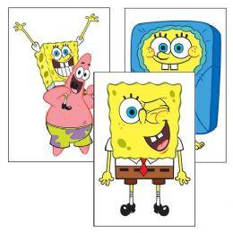 180 Bulk Spongebob Squarepants Temporary Tattoo Pack