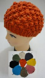 12 Bulk Wide Hand Knitted Ear Band [solid Color] *loop