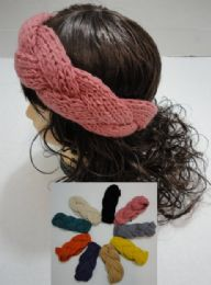 12 Bulk Hand Knitted Ear Band [braided Loop]