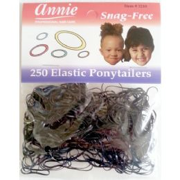 48 Bulk Elastic Ponytail 250 Pack