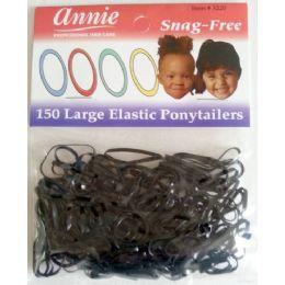 48 Bulk Elastic Ponytails Large Size 150 Pack