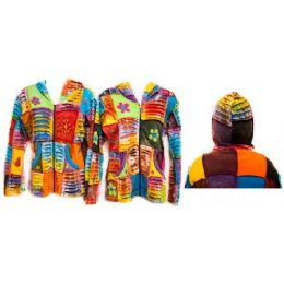 12 Bulk Nepal Handmade Jackets Patchwork Assorted