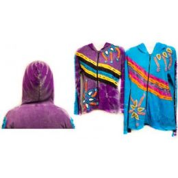 12 Bulk Nepal Handmade Cotton Jackets With Hood Design