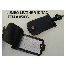 120 Bulk Jumbo Leather Id Tag
