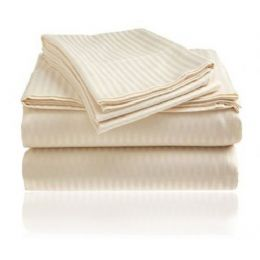 6 Bulk 2 Line Embroidery 4 Piece Kings Size Bed Sheets