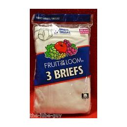 48 Bulk Fruit Of The Loom Boy's 3 Pack White Briefs