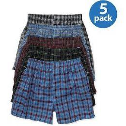 46 Bulk Fruit Of The Loom Boy's 5 Pack Boxer Shorts