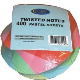 48 Bulk Twisted Note Paper - Pastel Colors 400 Sheets