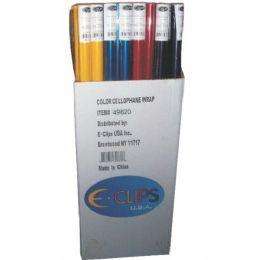"72 Bulk Cellophane Rolls - Asst. Colors - 30"" X 12.5sqft"