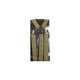 48 Bulk Silver Sparkle Suspender