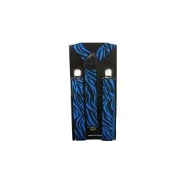 96 Bulk Adult Blue Zebra Suspender