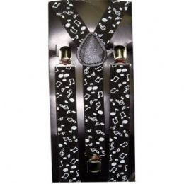48 Bulk Adult Musical Notes Suspenders