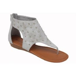 18 Bulk Ladies Fashion Sandals In Grey