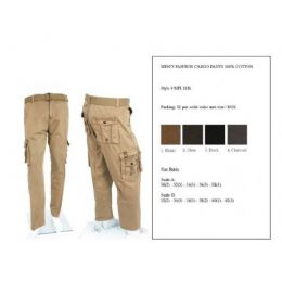 12 Bulk Men's Fashion Cargo Pants 100%