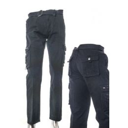 12 Bulk Men's Fashion Cargo Pants 100% Cotton Size Scale A Only