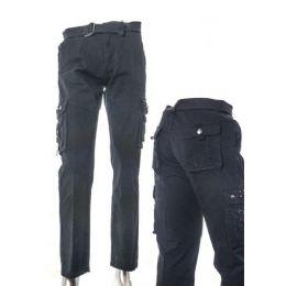 12 Bulk Men's Fashion Cargo Pants 100% Cotton Size B Scale Chart Only