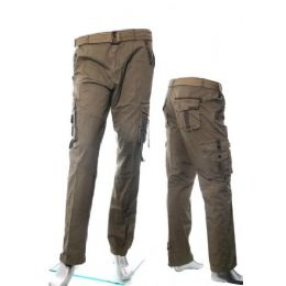 12 Bulk Men's Fashion Cargo Pants 100% Cotton Size Scale A