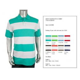 48 Bulk Men's Cut & Saw Polo Shirt Size Chart B Only