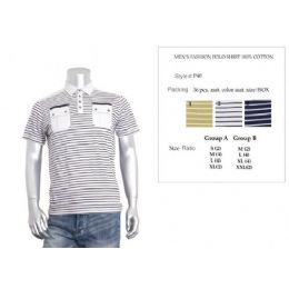 48 Bulk Men's Fashion Polo Shirt Size Chart B Only
