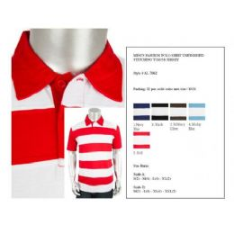 24 Bulk Mens Fashion Polo Shirts Unfinished Stitching Jersey