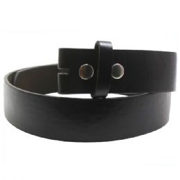 72 Bulk Small Black Dress Plain Belt