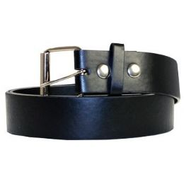 72 Bulk Large Black Plain Belt
