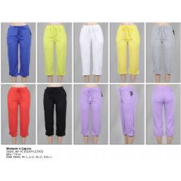 72 Bulk Women's Terry Capri Pants