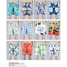 144 Bulk Printed Men's Swim Trunks