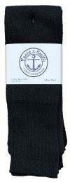 240 Bulk Yacht & Smith Men's Cotton 31 Inch Tube Socks, Referee Style, Size 10-13 Solid Black Bulk Buy