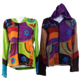5 Bulk Nepal Handmade Cotton Jackets With Hood