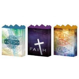 288 Bulk GifT-Bag Medium Gls Faith 3 Styles