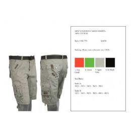 24 Bulk Mens Fashion Cargo Shorts 100% Cotton