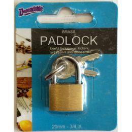144 Bulk 20mm Brass Luggage Lock