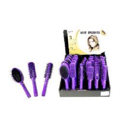 72 Bulk Wholesale Hair Brush Assortment On Counter Display