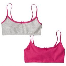 72 Bulk 2 Pack Hanes Girls Sports Bra On Hanger