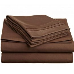12 Bulk Twin Size 2 Line Embroidery Sheet Set Assorted Colors