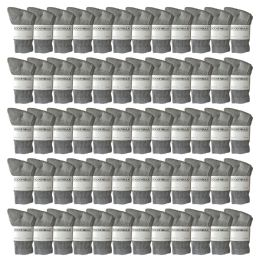 120 Bulk Yacht & Smith Kids Cotton Crew Socks Gray Size 6-8