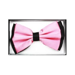 48 Bulk Pink And Black Bow Tie 032
